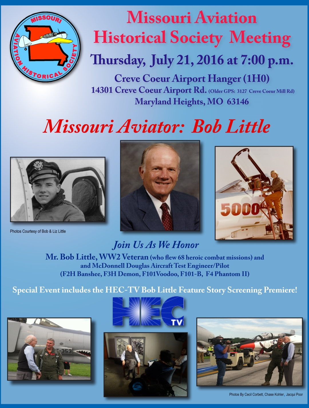 2016 07 21 Bob Little Tribute Mtg Flyer