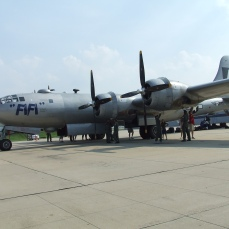 B-29 at KSUS by Myron Lane.