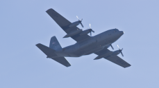 C-130 on approach to KSTL.