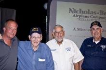 MOAVHIST President Dan O'Hara, Tom Mohan, CAF-Dixie Wing Members Tom Kennedy and Dick Hyde.